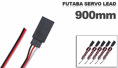 Futaba Servo  lead 900mm (5 pcs)