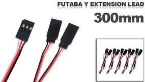 Futaba Y extension lead 300mm (5 pcs)