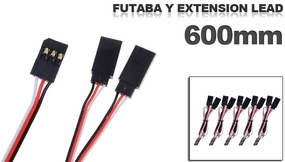 Futaba Y extension lead 600mm (5 pcs)