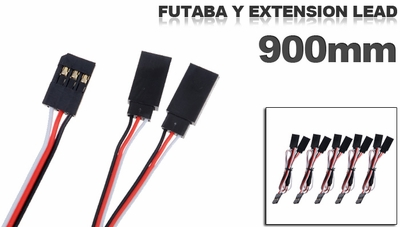 Futaba Y extension lead 900mm (5 pcs)
