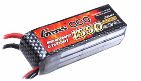 Gens ace 1550mah 3S1P 11.1V 25C Lipo battery pack