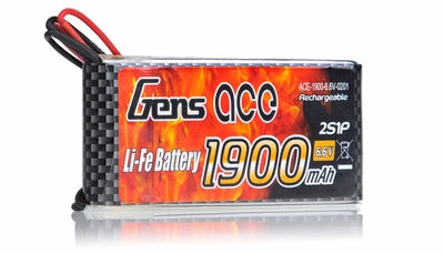 Gens Ace 1900mAh 1C 6.6v LiFe- lithium phosphate Battery