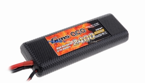 Gens ace 2400mah 2S1P 7.4V 25C hard case Lipo battery(TRX)