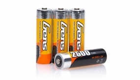 Gens Ace 2500mAh 1.2V NIMH 4pcs AA Rechargeable Battery