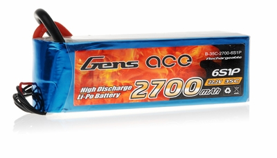 Gens Ace 2700mAh 35C 22.2v Lipo Battery
