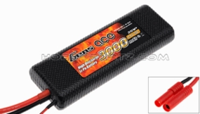 Gens ace 3000mah 2S1P 7.4V 25C hard case Lipo battery(TRX)