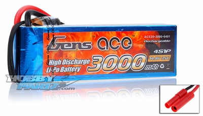 Gens Ace 3000mAh 4S1P 35C Lipo Battery