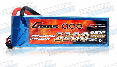 Gens Ace 3200mAh 35C 22.2v Lipo Battery