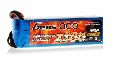Gens Ace 3300mAh 35C 22.2v Lipo Battery
