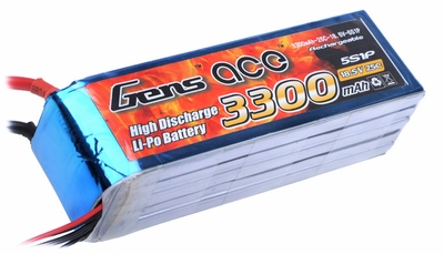 Gens ace 3300mah 5S1P 18.5V 25C Lipo battery pack