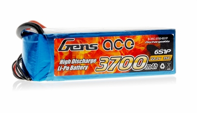 Gens Ace 3700mAh 35C 22.2v Lipo Battery