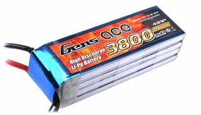 Gens ace 3800mah 4S1P 14.8V 25C Lipo battery pack