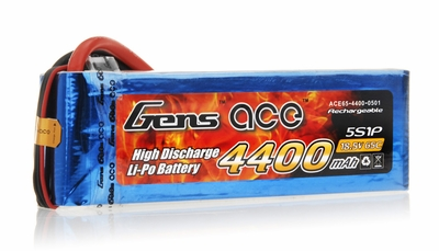 Gens Ace 4400 mAh 65C 5 Cells Lipo Battery