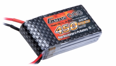Gens ace 450mah 3S1P 11.1V 25C Lipo battery pack