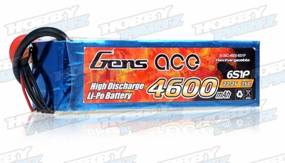 Gens Ace 4600mAh 35C 22.2v Lipo Battery