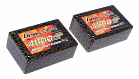 Gens ace 4800mah 2S3P 7.4V 25C saddle pack Lipo battery