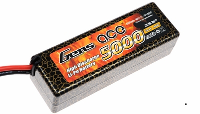Gens ace 5000mah 3S1P 11.1V 40C hard case Lipo battery
