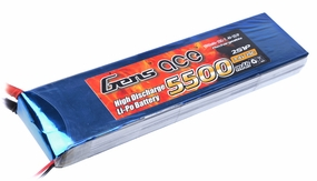 Gens ace 5500mah 2S1P 7.4V 25C Lipo battery pack