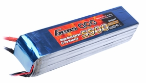 Gens ace 5500mah 5S1P 18.5V 25C Lipo battery pack