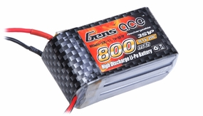 Gens ace 800mah 3S1P 11.1V 20C Lipo battery pack