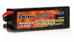 GENS ACE LIPO 5300mAh 30C 7.4V Hardcase lipo battery pack ROAR approval