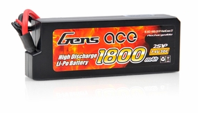 Gens Ace LIPO Battery 1800mah 7.4V 30C