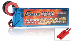 Gens ace LIPO Battery  2200mAh 60-120C 11.1V