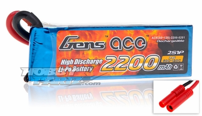 Gens ace LIPO Battery  2200mAh 60-120C 7.4V