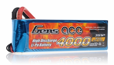 Gens ace LIPO Battery  4000mAh 60-120C 11.1V