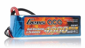 Gens ace LIPO Battery 4000mAh 60-120C 18.5V