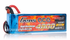 Gens ace LIPO Battery  4800mAh 60-120C 14.8V