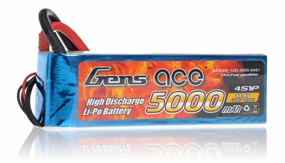 Gens ace LIPO Battery   5000mAh 60-120C 14.8V
