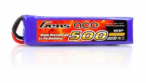 Gens Ace Lipo Battery 500MAH 3.7v 15C