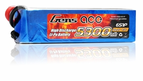 Gens Ace Lipo Battery  5300mAh 6 Cells 45c