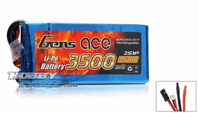 Gens Ace Lipo Battery for Receiver 7.4v 3500mAh