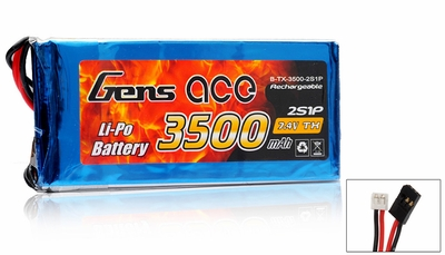 Gens Ace Lipo Battery for Transmitter 7.4v 3500mAh
