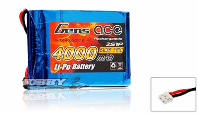 Gens Ace Lipo Battery for Transmitter 7.4v 4000mAh