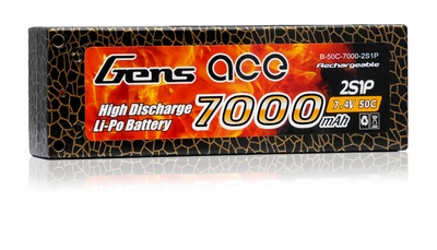 Gens Ace Lipo Battery Hard Case 7000mAh 2 Cells 50c