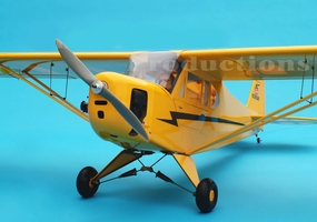 "Giant Scale J3 Piper Cub 120 - 91"" Engine Powered Scale Remote Controlled RC Aircraft  CMP-062-Gas-J3PiperCub120"
