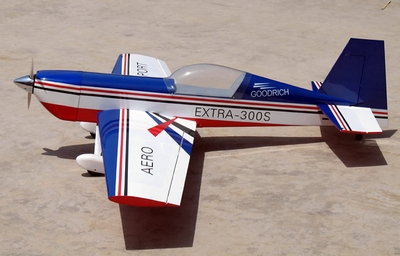 "Goodrich Extra 300s 60 - 54"" Nitro Gas Almost-Ready-to-Fly Radio Controlled RC Aerobatic Airplane ARF"