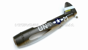 Green Fuselage for AirField RC P47 750mm 93A847-01-Green-Fuselage