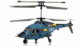 Gyro 3ch Rc Mini Helicopter Skywolf 338 (Blue) RC Remote Control Radio