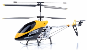 "Hero RC 26"" H853 Newest 3 Channel Outdoor Volitation Metal RC Helicopter w/ Built in Gyro (Yellow) RC Remote Control Radio"