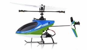 Hero RC 4CH Mini RC Helicopter H995 hot selling 2.4GHz Single-Propeller with Gyro  (Green) RC Remote Control Radio