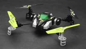 Hero RC H1 Quadcopter Viking Space Ship 2.4Ghz 4 Channel (Lime) RC Remote Control Radio