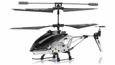 Hero RC  H288 3 Channel Mini Indoor Co-Axial Helicopter w/ bonus blades, balance bar,connect buckle,tail blade & tail decoration (Black) RC Remote Control Radio
