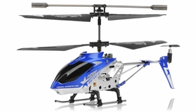 Hero RC  H288 3 Channel Mini Indoor Co-Axial Helicopter w/ bonus blades, balance bar,connect buckle,tail blade & tail decoration(Blue) RC Remote Control Radio