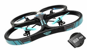 Hero RC XQ-5 V626 UFO Drone with Camera 4 Channel 6 Axis Gyro Quadcopter Headless Mode 2.4ghz Ready to Fly w/4GB Memory Card & Extra Battery RC Remote Control Radio