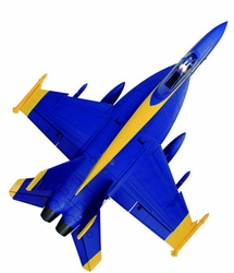 High Performance MaxJet 4-CH F-18E Blue Angel RC Fighter Jet w/ 64MM EDF Fan/ Brushless Motor/ESC (ARF Version) RC Remote Control Radio