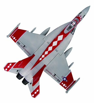 High Performance MaxJet 4-CH F-18E Red Viper RC Fighter Jet w/ 64MM EDF Fan (Kit Version) RC Remote Control Radio